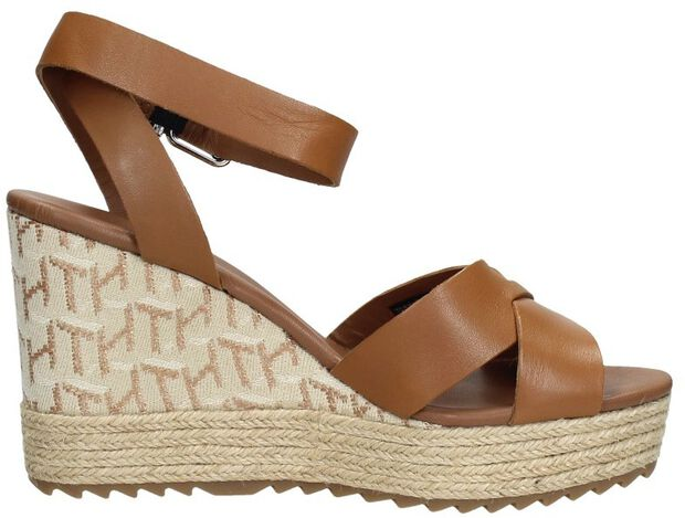 TH raffia High Wedge Sandal - large