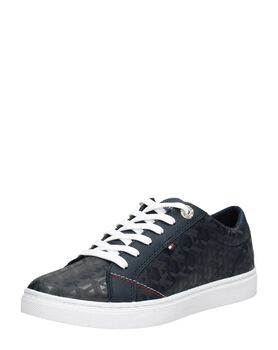 Tommy Jacquard Leather Sneaker