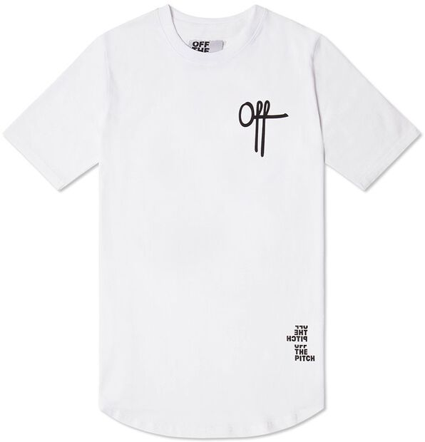 Off printed tee - large